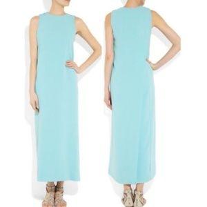 Diane Von Furstenberg Aqua Niabi Crepe Maxi Dress